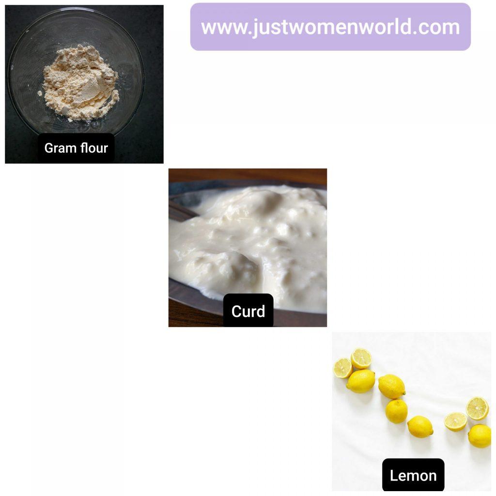 gram-flour-curd-lemon